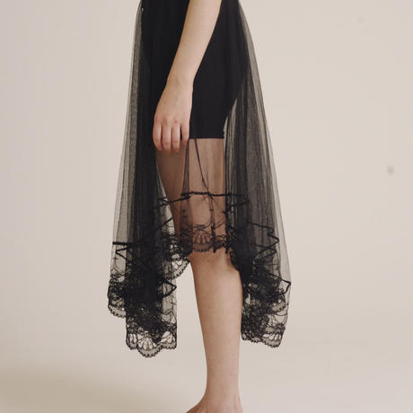 mini design lace skirt