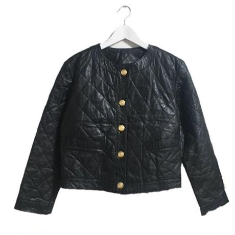 quilting real leather jacket