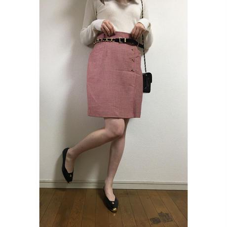 KENZO check skirt red