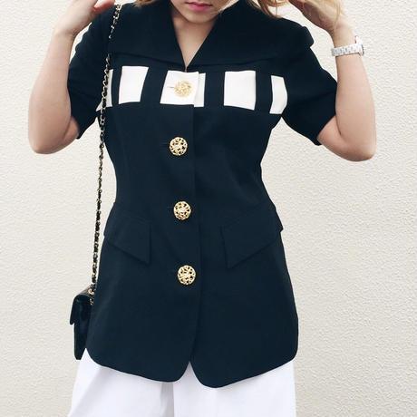 bi color blouse jacket