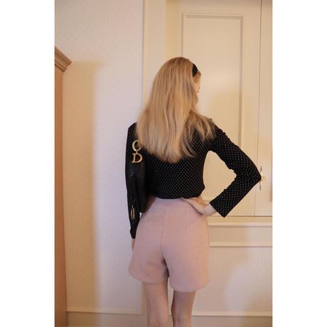 curly hair short pants baby pink