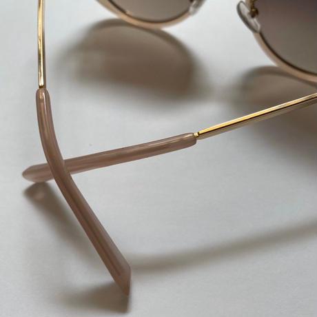 pink  beige see-through sunglasses