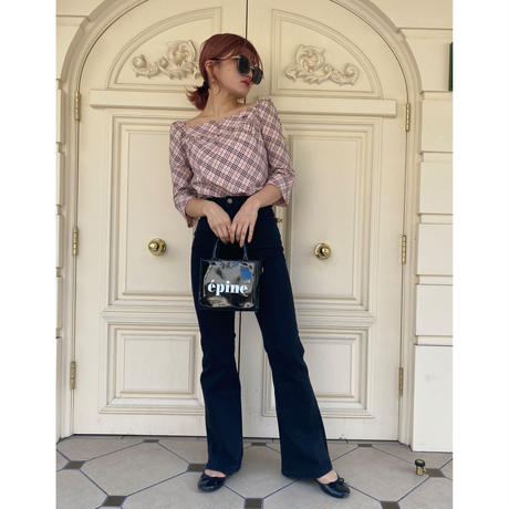 Burberry pink check blouse