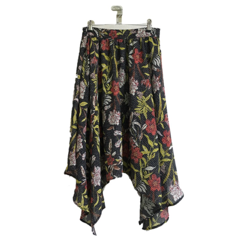 design flower skirt black