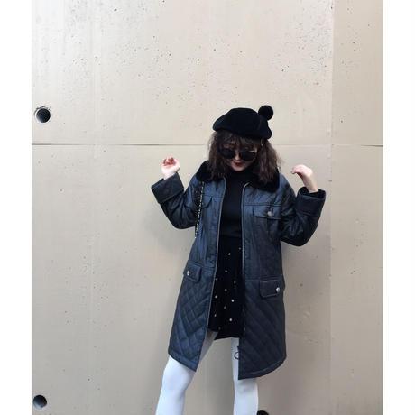 courrèges down fur coat