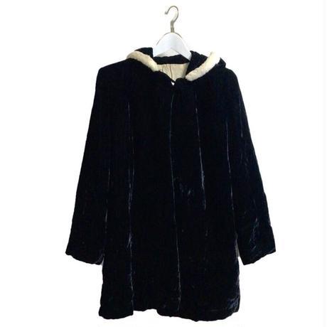 bi-color hood coat
