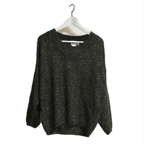 black&gold Vneck knit