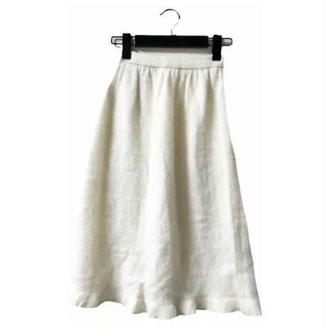 mohair white knit skirt