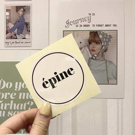 épine round sticker