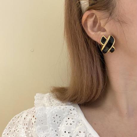 black design earring (No.4505)