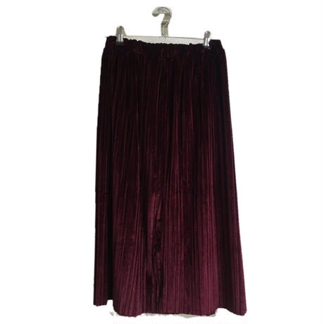 velours pleats skirt Bordeaux