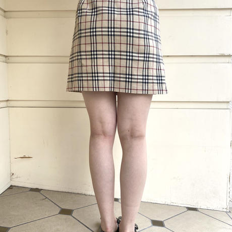 Burberry check mini skirt (No.4402)