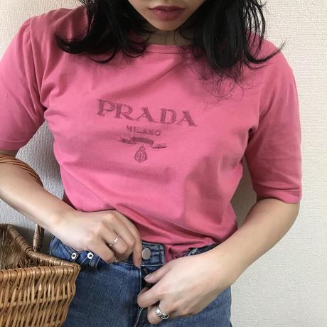PRADA logo tee pink