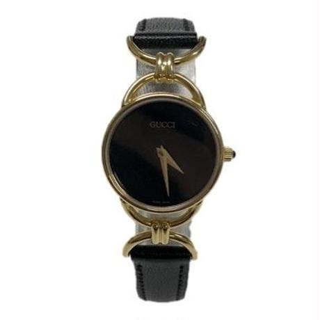 GUCCI black belt vintage watch