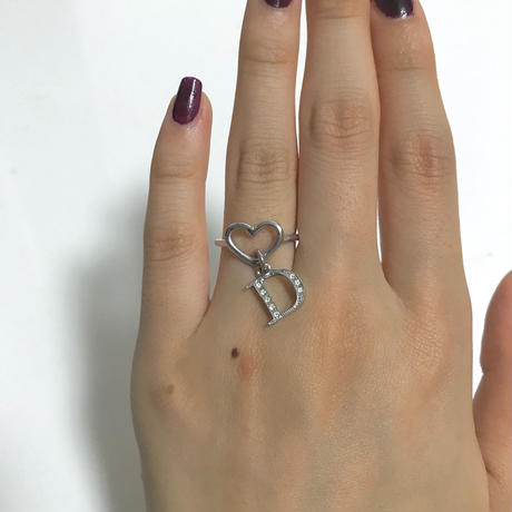 Dior rhinestone Heart ring(No.2988)