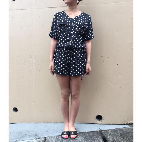 double ribbon dot rompers