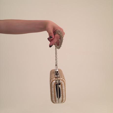 straw design chain bag