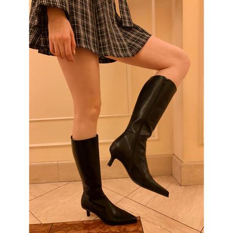 pointed toe khitōn heal long boots black