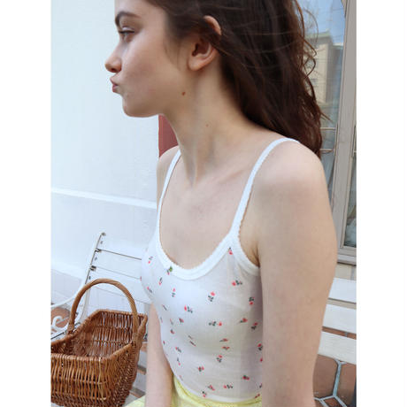 flower rose camisole white
