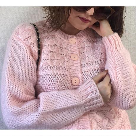 【スペシャルプライス】cable knit cardigan baby pink