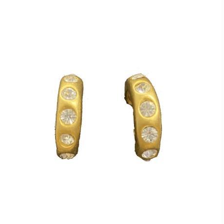 rhinestone ring earring (No.4509)