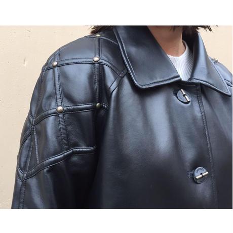 studs leather coat