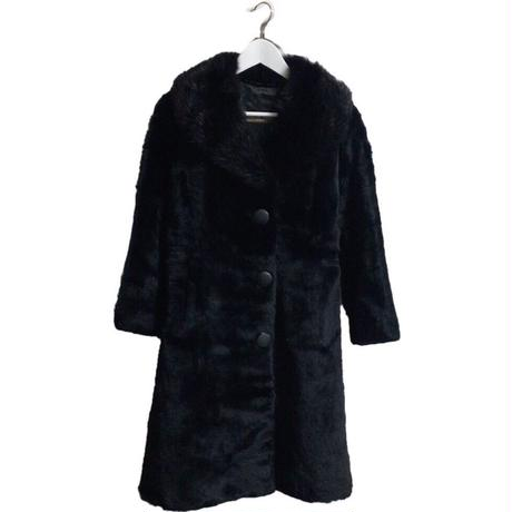 black long fur coat