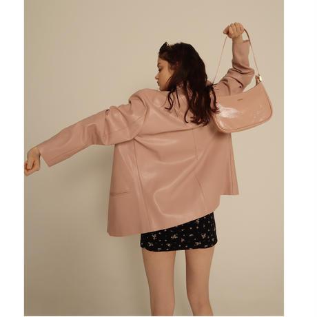 épine gold logo half moon bag pink