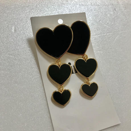 3 heart earrings