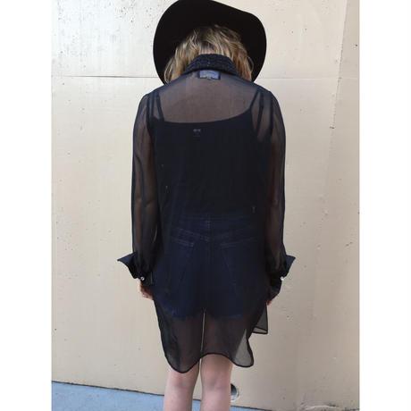 see-through black shirt