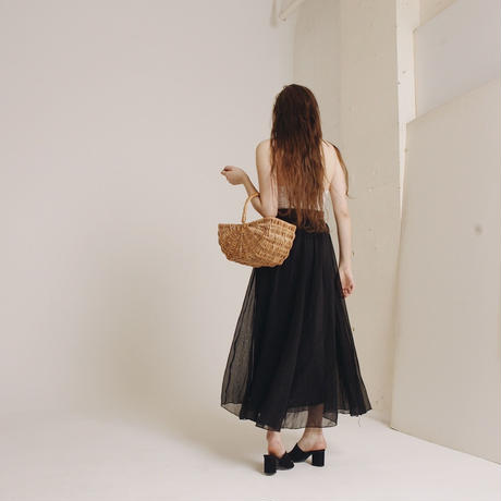 see-through long skirt