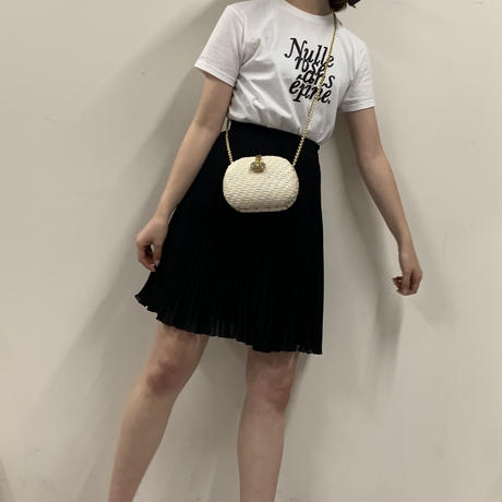 courrèges pleats skirt black(No. 2956)