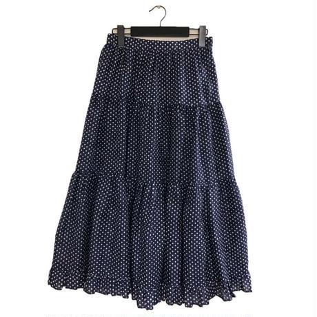 dot flare long skirt(No.1760)