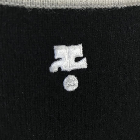 courreges piping design knit tops