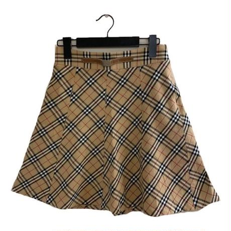 Burberry check design flare skirt(No.3869