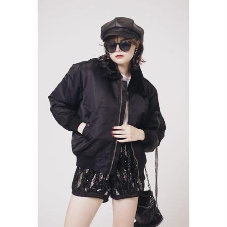 2way fur  MA1 black