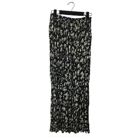 flower design pleats skirt