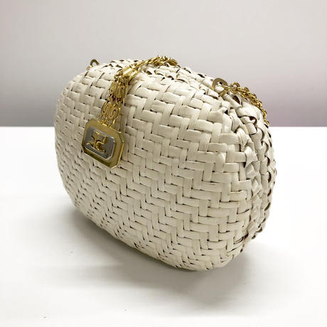 courreges chain white basketbag
