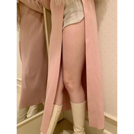 slit rib knit onepiece baby pink