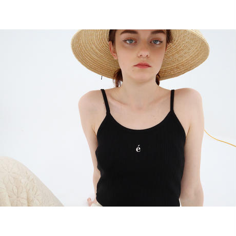 épine label camisole é embroidery×black rib