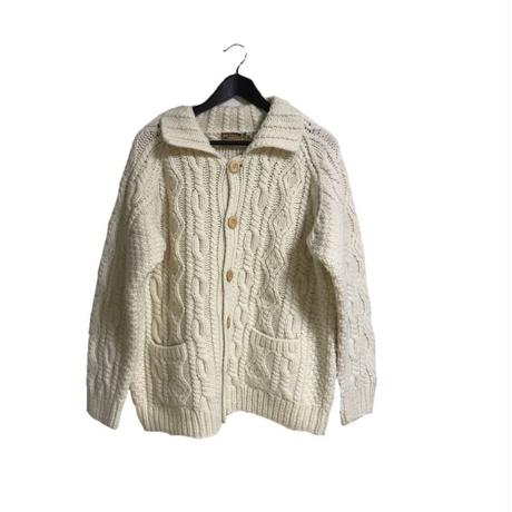 cable knit cardigan ivory