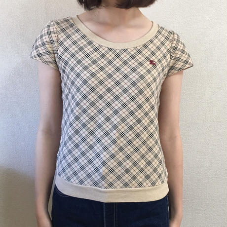 Burberry check design tee