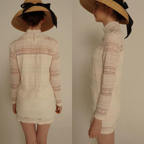 high neck lace onepiece