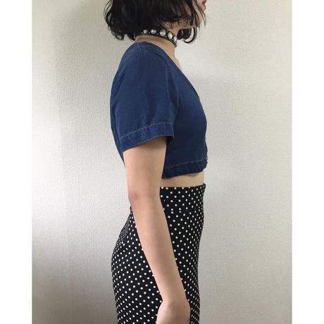 denim short tops