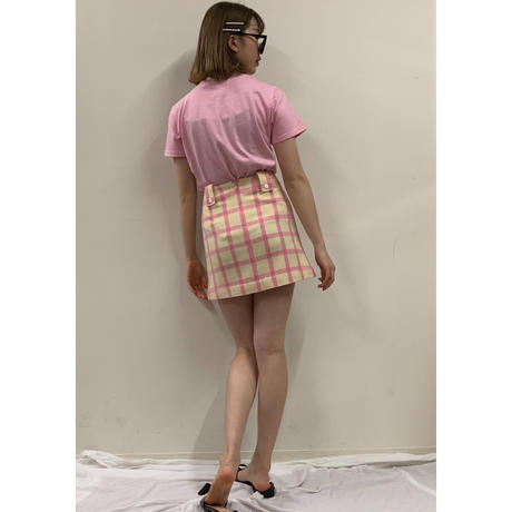 courrèges  check design wool mini skirt(No.3293)