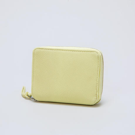 -LIMITED COLOR LIME- BUBBLE CALF ROUND PALM WALLET