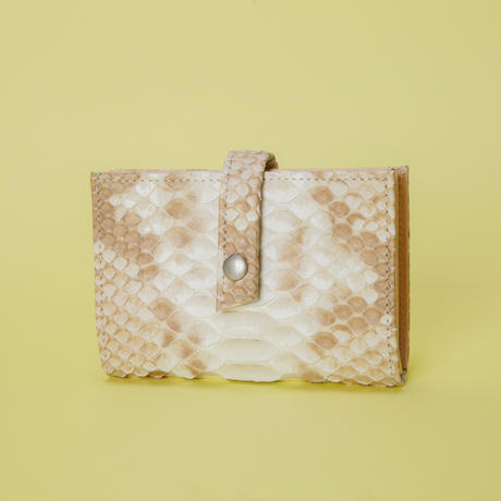 NATURAL PYTHON STRAP CARD CASE