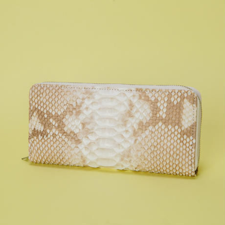 NATURAL PYTHON ROUND SLIM WALLET