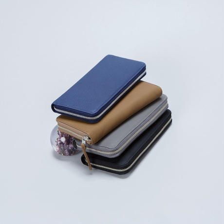BUBBLE CALF ROUND SLIM WALLET