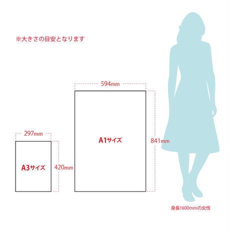 肖像コラージュ 【大  A1サイズ】(オーダー制)